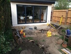 garden decking installation in Wickford