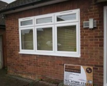 Newly fitted uPVC window