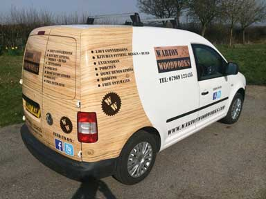 Van graphics in Basildon
