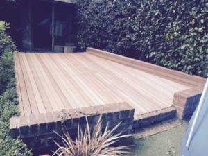 garden decking installation in basildon