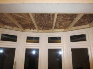 how to insulate a bay window top