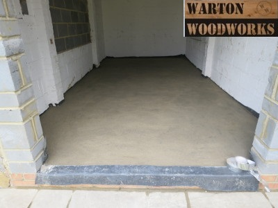 building a garden bar screed floor