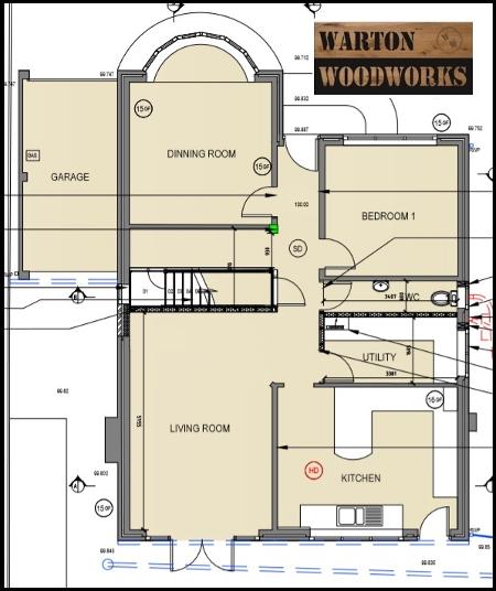 bungalow hip to gable loft conversion drawing