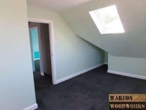 hip to gable loft conversion finished bedroom