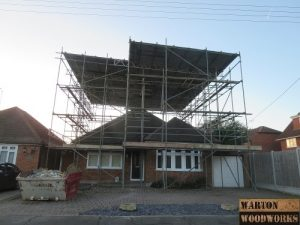 bungalow conversion scaffholding