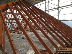 timber structure for hip to gable