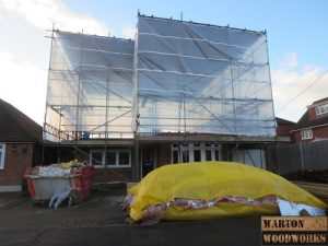 bungalow loft conversion scaffholding