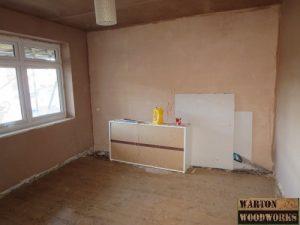 plastering of bedroom walls