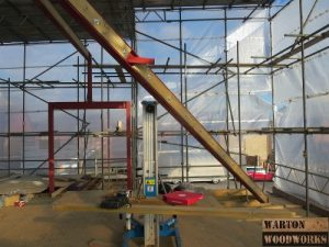 steel structure for hip to gable conversion