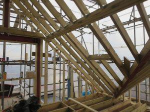 hip to gable loft conversion wooden structure