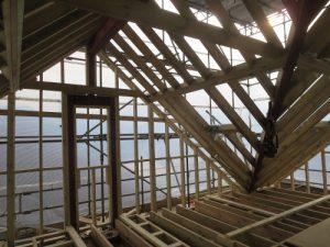 loft conversion wooden roof structure