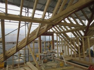 wooden structure hip to gable conversion