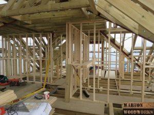 Hip to gable loft conversion structure