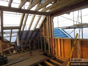 hip to gable plywood install