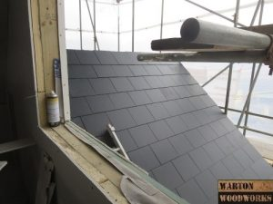hip to gable composite tiled roof