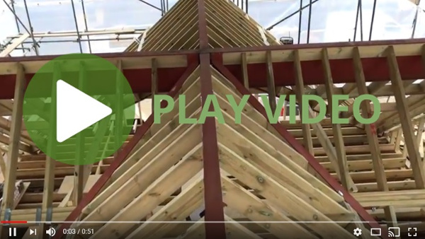 hip to gable loft conversion progress video