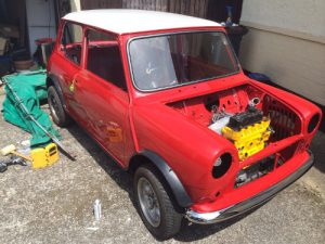 engine for a mini cooper classic 1989 flame red