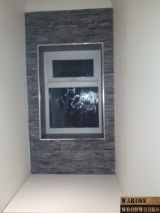 WC feature wall slate