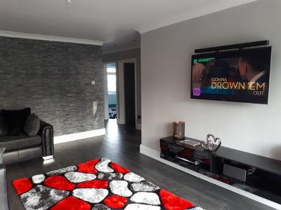 living room unique feature wall slate PVC sheets