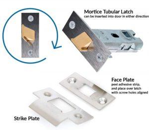 Door handle latches