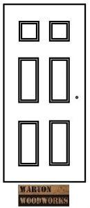 Diagram of an interior door
