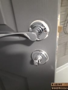 fit a door handle to a new door