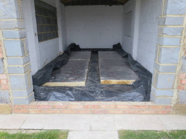 screeding and insulating a garage floor
