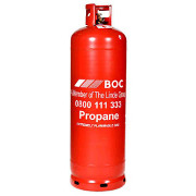BOC propane gas cylinder
