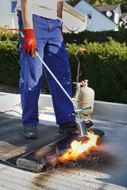 hot torch to replace your hot felt roof